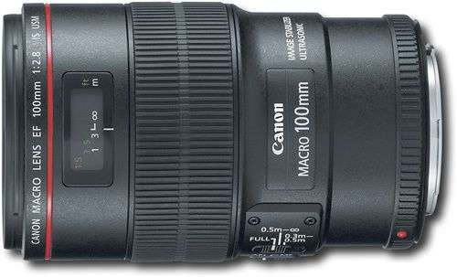 Canon EF 100mm f/2.8L Macro IS USM Lens: Experience a broader range of your DSLR's capabilities with this mid-telephoto macro lens. Image stabilization helps to ensure that your photos are clear even at very close range. Capture fine details with unprecedented clarity.