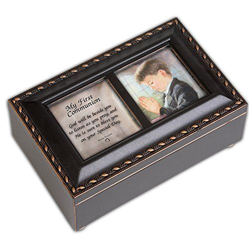 This beautifully trimmed Music Box Jewelry Box makes the perfect