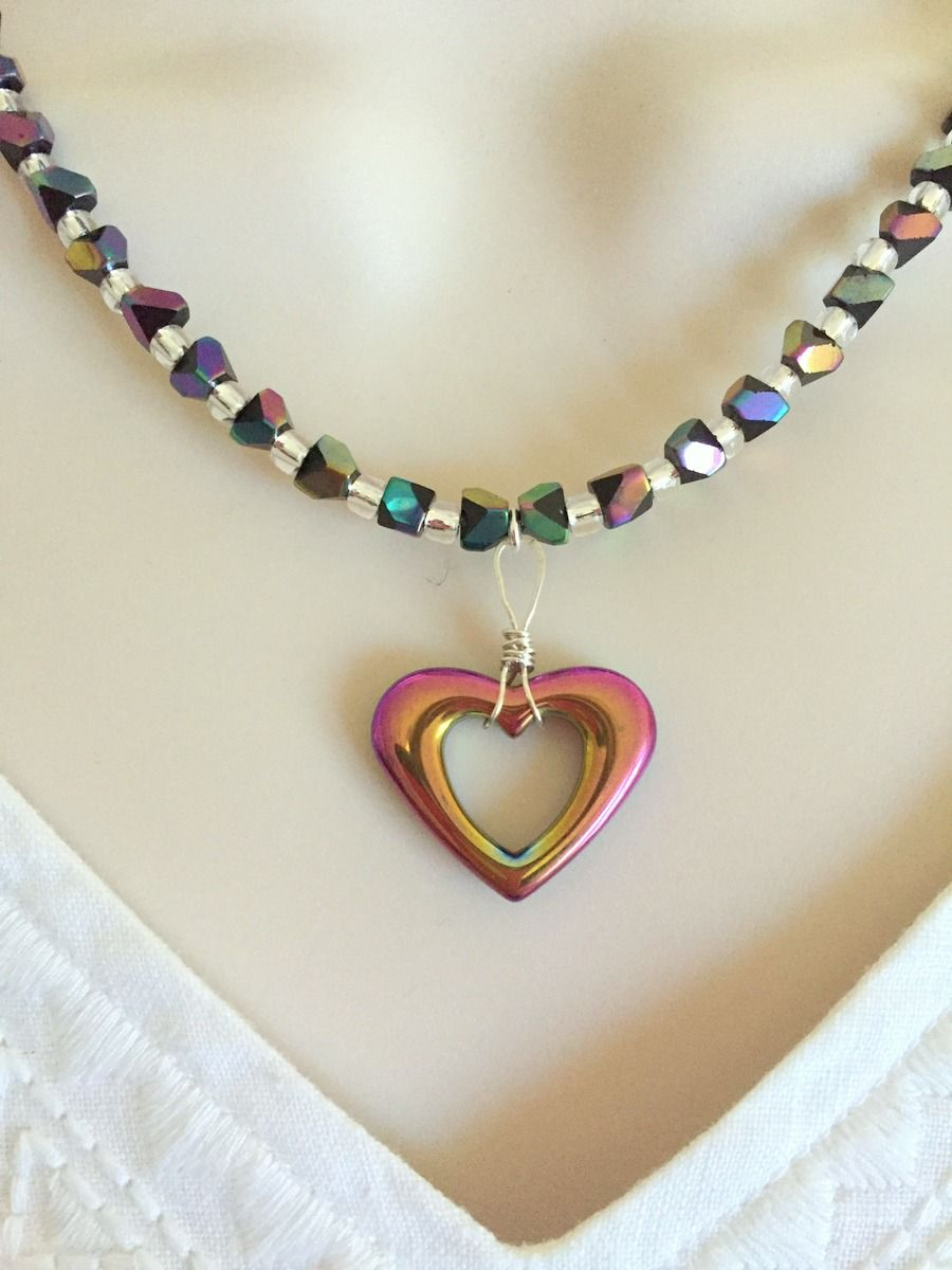 Hemalyke heart necklace and earring set my favorite handmade items