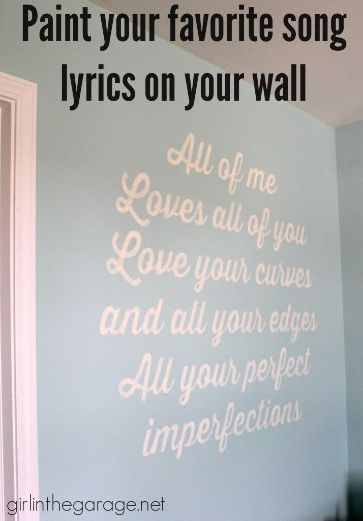 Song Lyric Wall Art why i drew all over my wall {song lyric art} | songs and walls