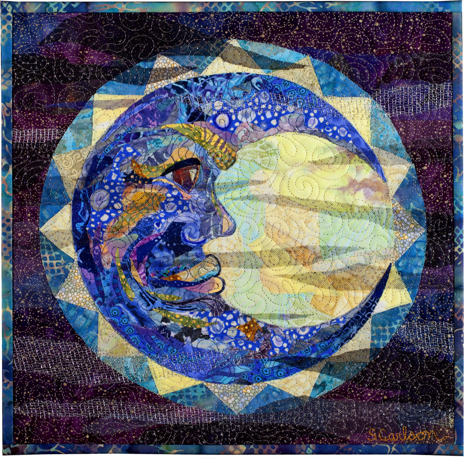Blue moon quilt by susan carlson лоскутные картины pinterest