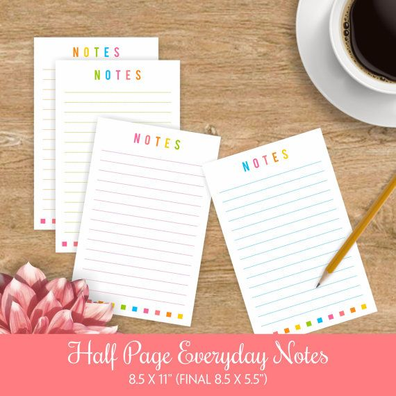 Daily Planner Insert for Big Happy Planner - Daily Planner Pages - printable notepad paper