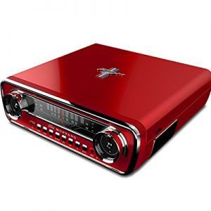 Mustang 4-IN-1 LP Record Player Bring back that great feeling of cruising in your 1965 Mustang with your favorite tunes! Features 4-in-1 retro music center