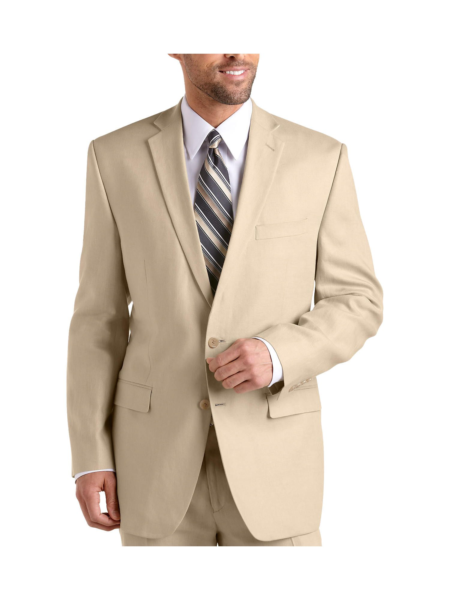 fcef6ea194 Designed in high-quality 100% linen, this suit coat lets you choose jacket