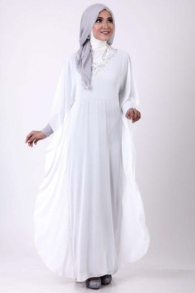 Model Busana Muslim Terbaru Busana Muslim Putih Pinterest