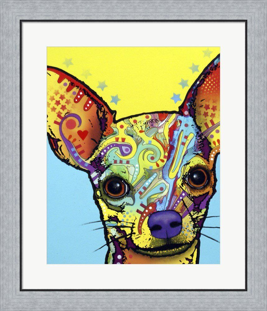 Chihuahua I by Dean Russo Framed Art Print Wall Picture, Flat Silver ...
