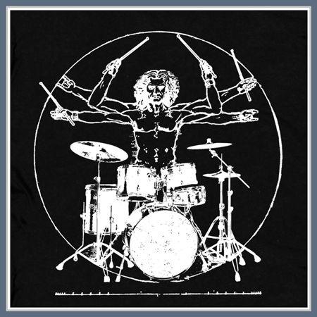 39e6f95de Da Vinci Drums T Shirt Drummer Man Rock Tee | Drummers in 2019 ...