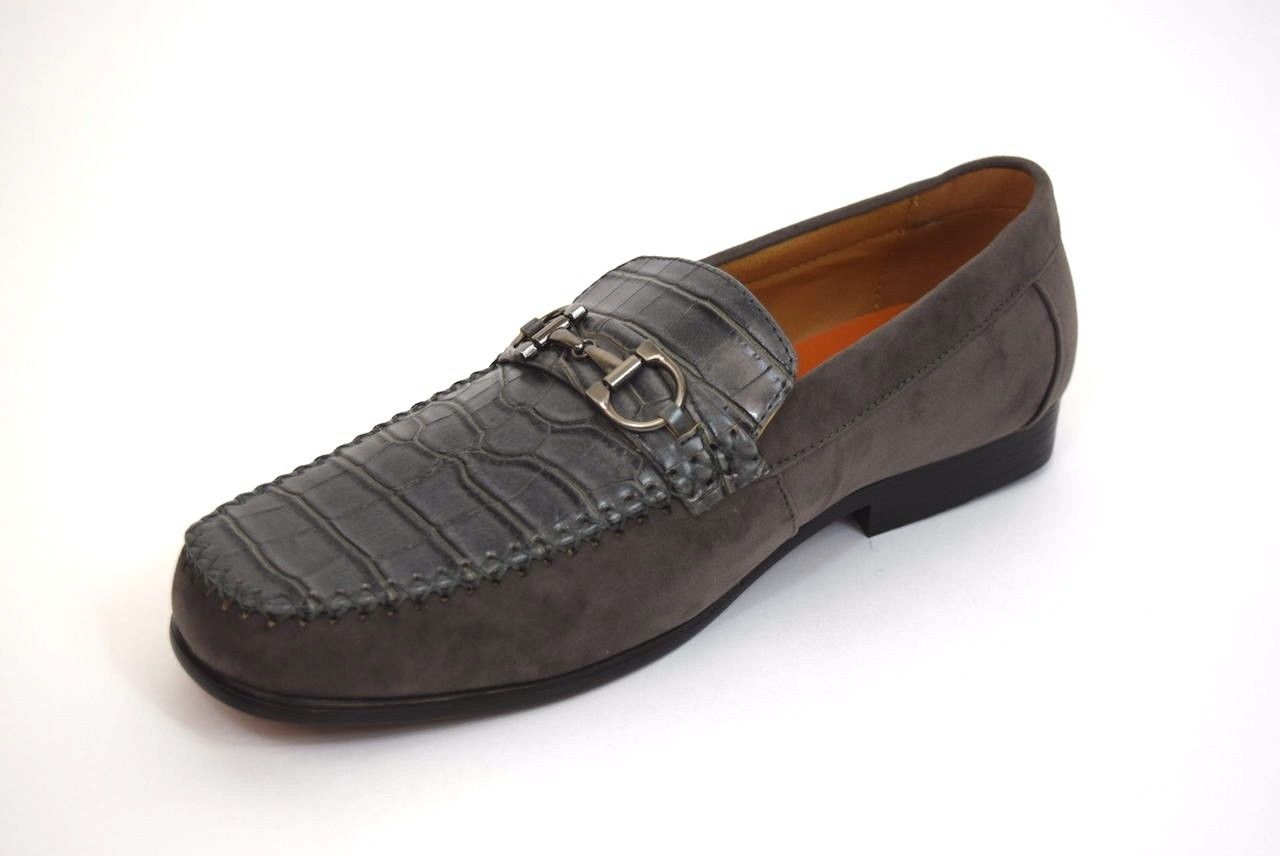 b7708651b33 Mens dress casual shoes antonio cerrelli gray slip on loafers gator print  jpg 1280x856 Mens gator