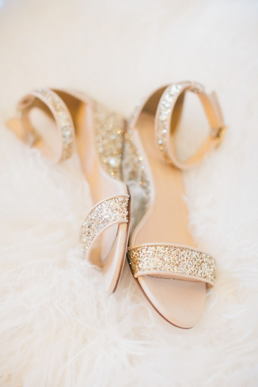 ab0e84d20702 Sparkly gold bridal flats - perfect for partying in style  gold  goldwedding   wedding  bridalshoes  weddingshoes