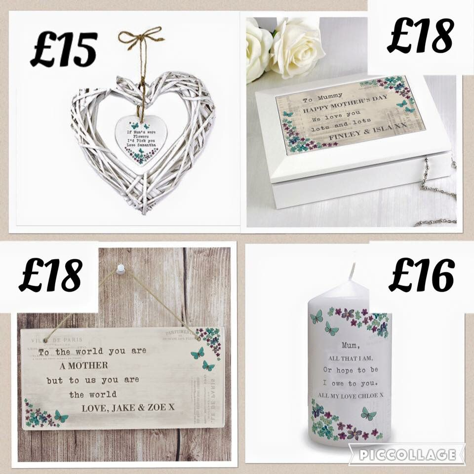Personalised gifts - order before 22/2 to arrive for Mothers Day