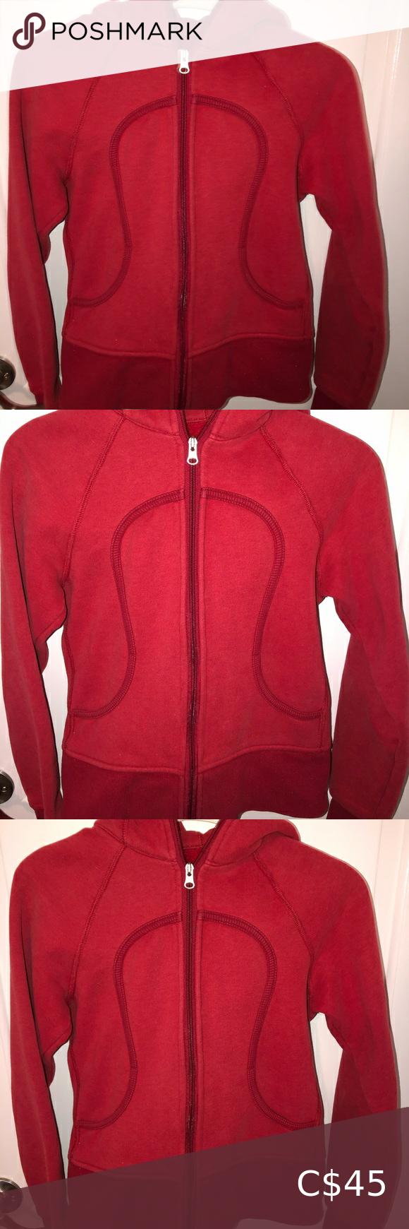 2/$45 Lululemon Women's Red Sweater Zip-Up Size 2