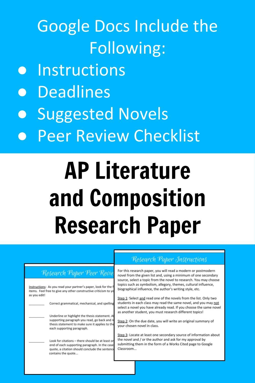 Ap Literature Research Paper Unit Remote Learning In 2020 Ap Literature Research Paper Literature