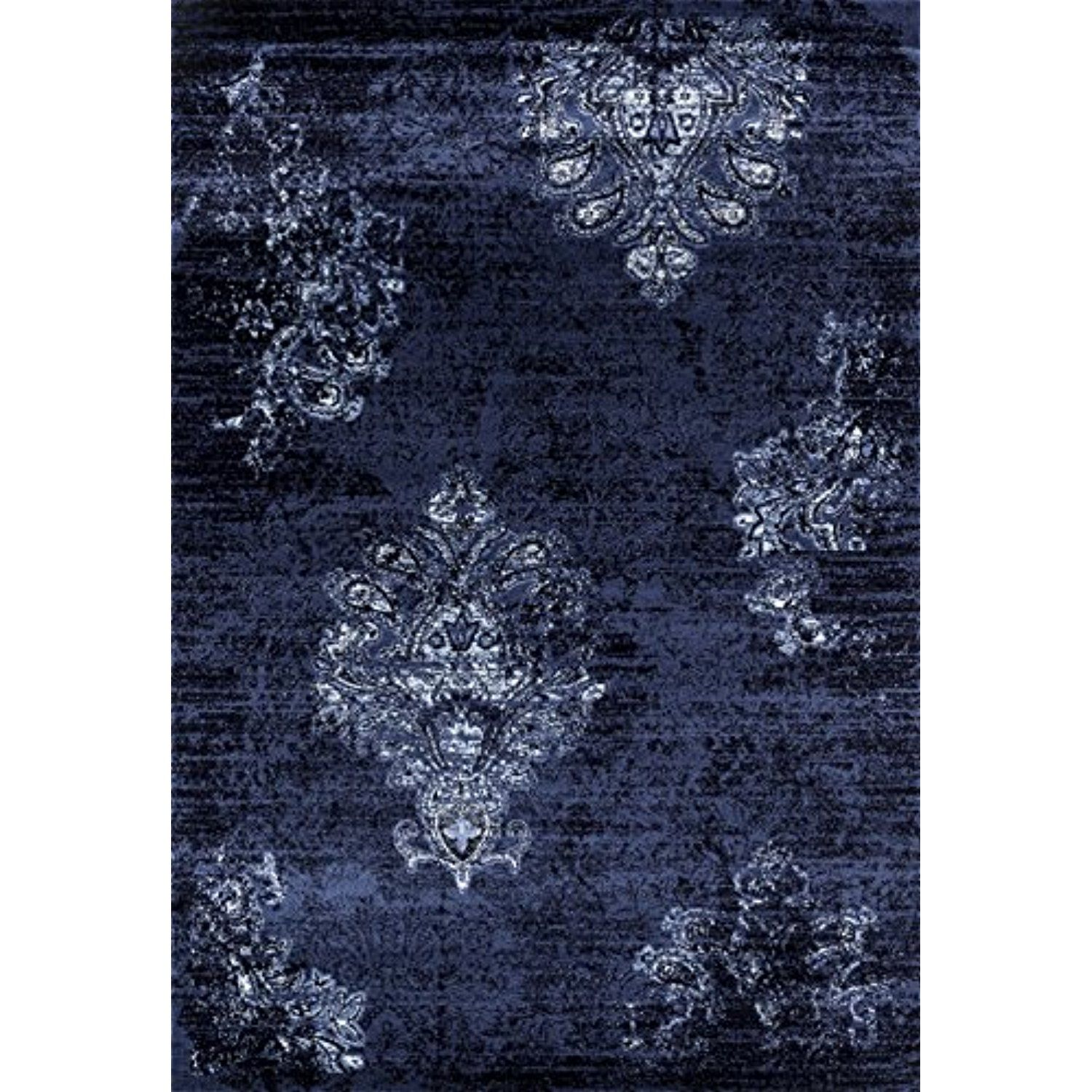 4745 Distressed Blue 5x7 Area Rug Carpet Large New See This