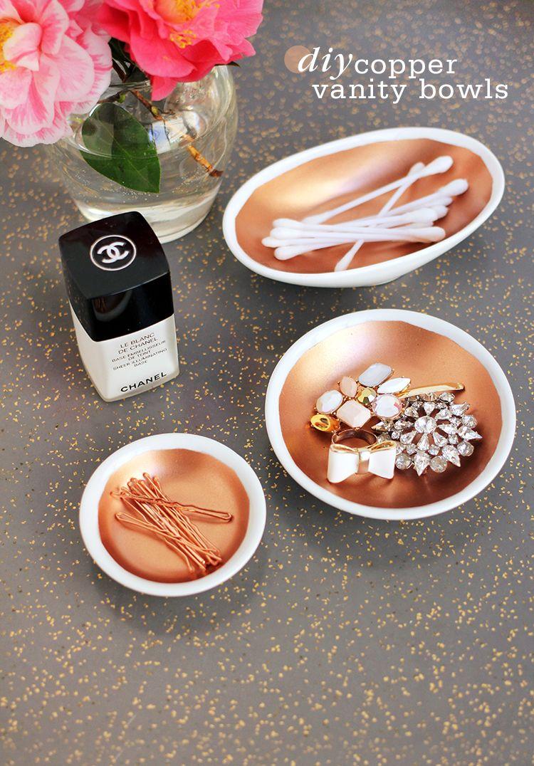 DIY Copper Vanity Bowls an easy way