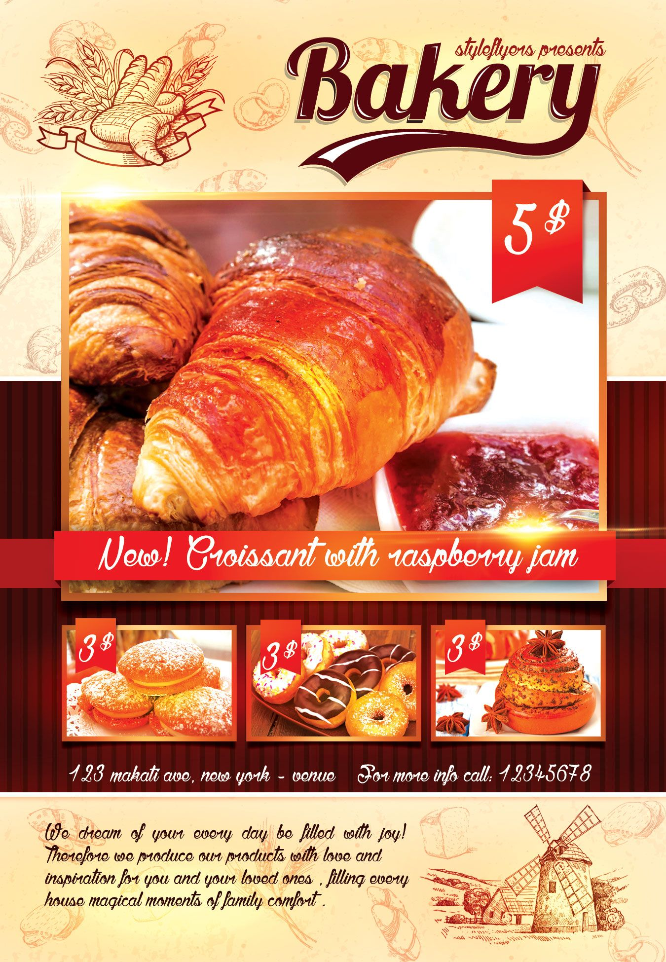 Boost Your Bakery Shop With Our Free Bakery Psd Flyer Template Get - Bakery flyer templates free