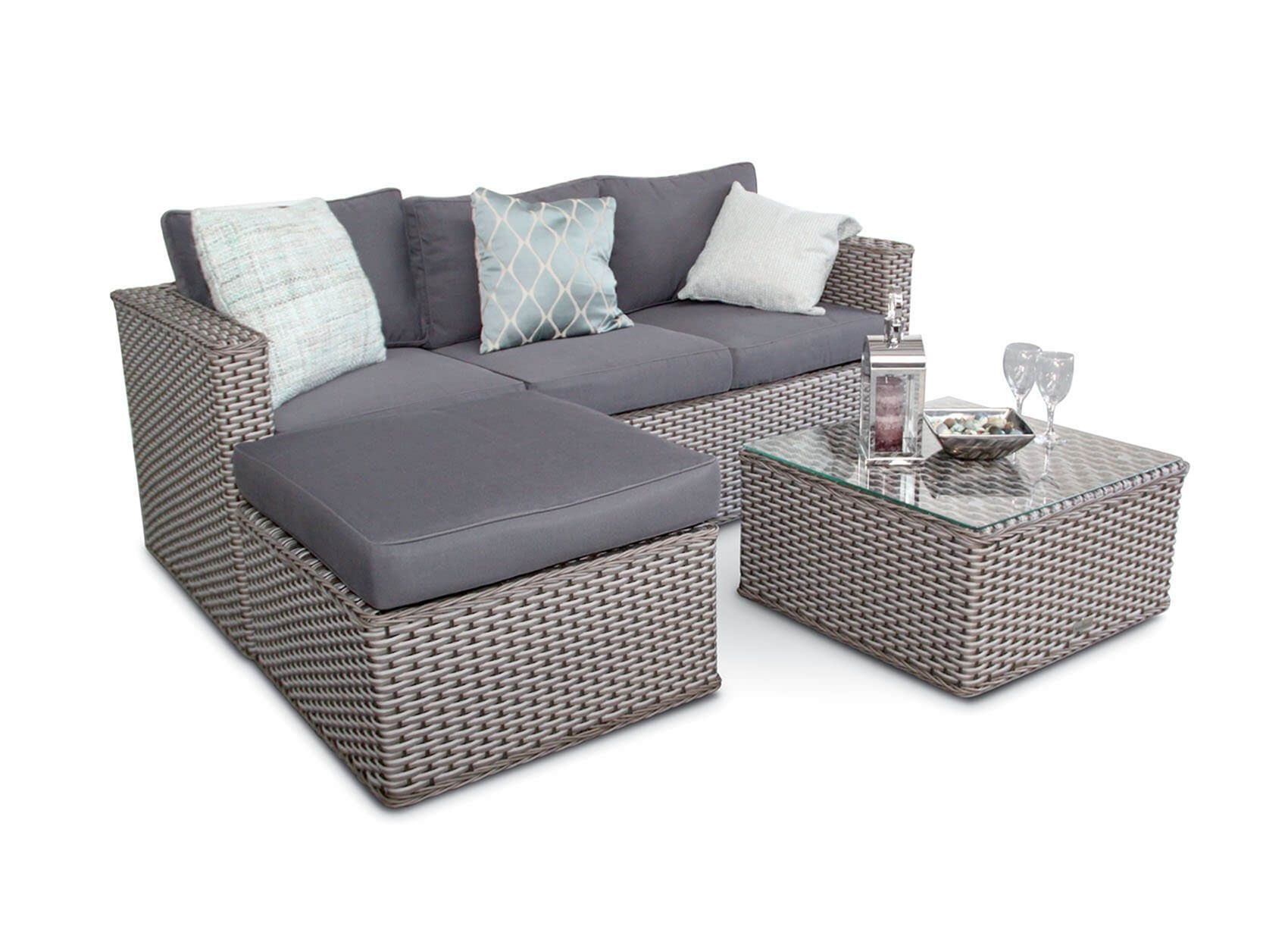 20 Attractive Simple Tiny House Decorations To Inspire You Grey Rattan Corner Sofa Outdoor Sofa Sets Furniture Sofa Set