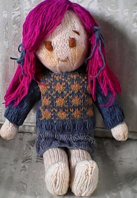 Free Knitting Pattern Emiko Doll Holys Stuff Knitting Toys