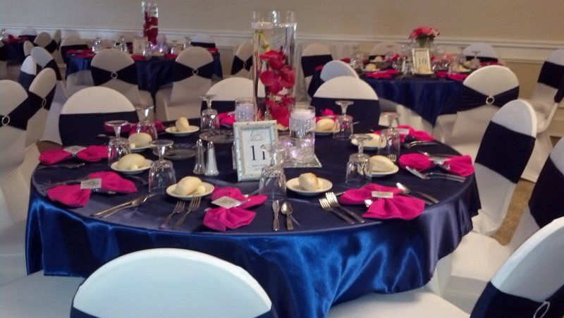 Blue And Pink Wedding Ideas: The Reception Featured A Color Palette Of Shades Of Pink