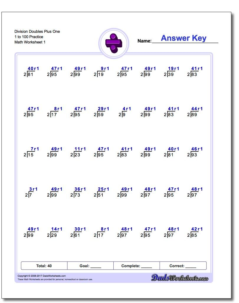 Doubles Plus One Division Worksheets Division Printables Mathprintables Mathworksheets Freedownl Division Worksheets Division Facts Worksheets Worksheets [ 1025 x 810 Pixel ]