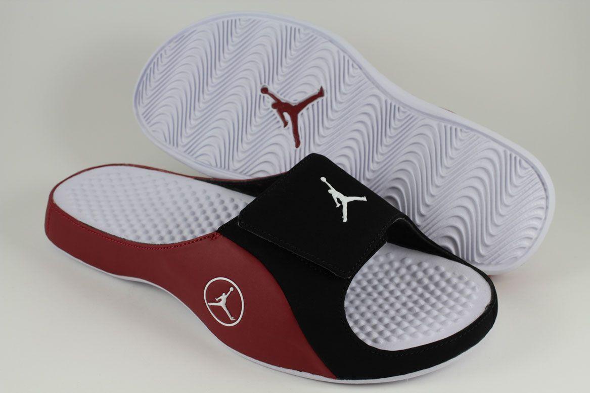 0e7cefa7f83e Nike Jordan Alpha Float Black White Gym Red Velcro Strap Sport Sandals