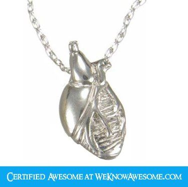 Mini Anatomical Heart Necklace at ShanaLogic.com  by Peggy Skemp  $40.00