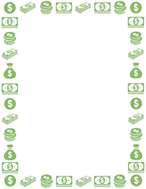 Money Border Clip Art Page Border And Vector Graphics Borders For Paper Clip Art Borders Page Borders