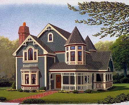 Plan 19218GT Queen Anne Style Queen anne Style and Public domain