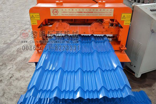 Pin On Color Steel Glazed Tile Roll Forming Machine With Hydraulic Cutting System