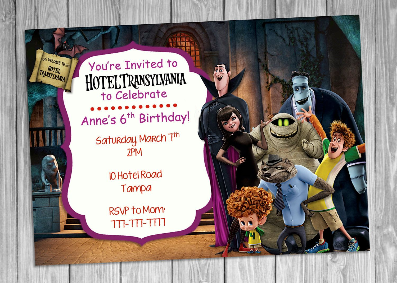 Hotel Transylvania Birthday Invitation Addie 3rd Bday