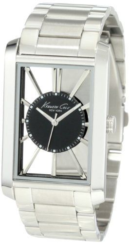 Kenneth Cole New York Men's KC3995 Transparency Classic See-Thru Dial Rectangle Case Watch Kenneth Cole. $81.93. Japanese analog 3-hand movement with date. Dependable Japanese Analog-Quartz movement. Water-resistant to 165 feet (50 M). Solid stainless steel rectangle case. Solid stainless steel bracelet