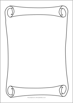 pirate scroll template - scroll parchment a4 page borders sb3643 sparklebox