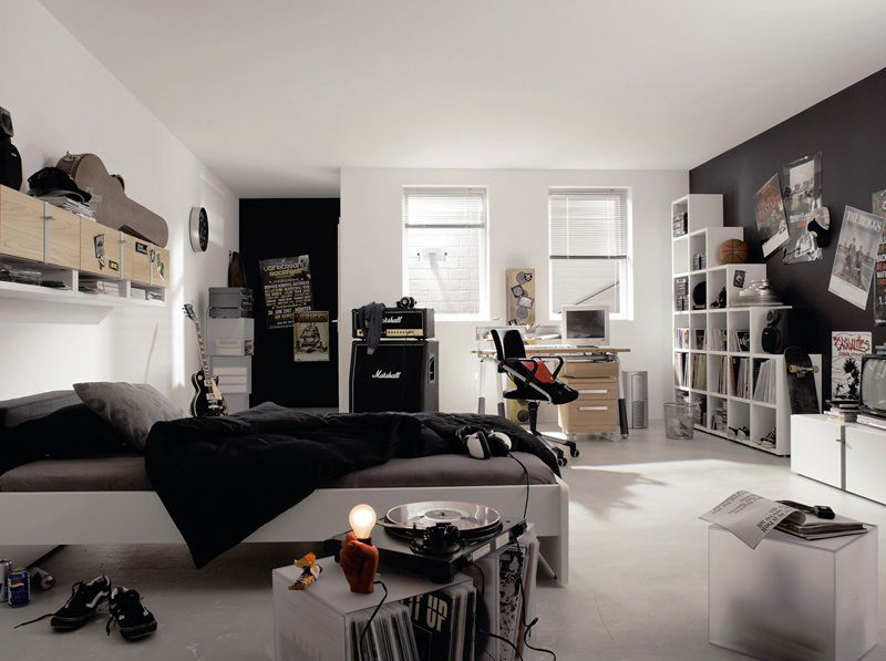 1000 ides sur le thme chambres dadolescent modernes sur pinterest lits superposs dadolescent chambre dado et salle de jeux de bureau - Couleur Peinture Chambre Ado Garcon