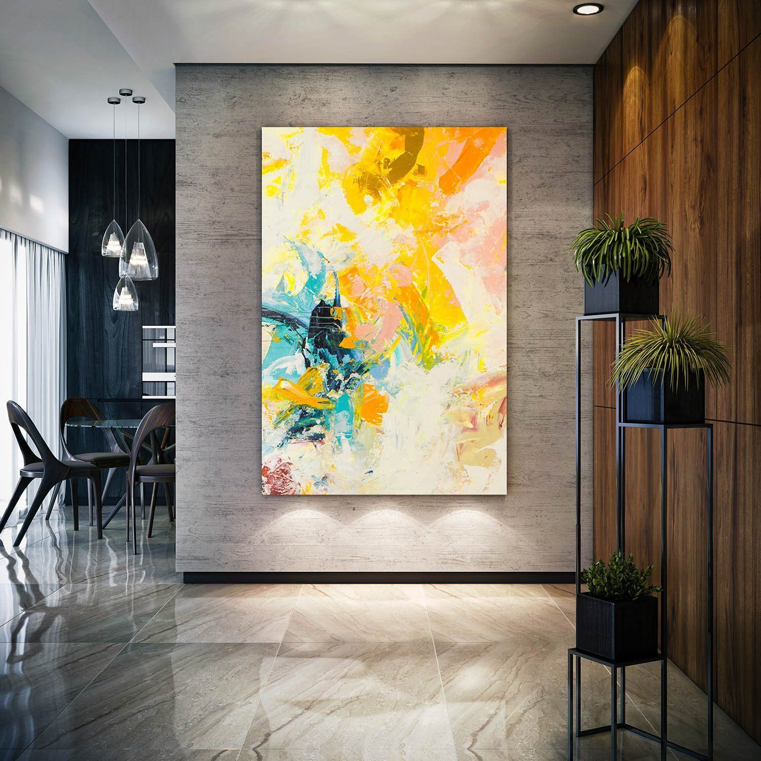 Original Paintings On Canvas Living Room Wall Art Modern Art