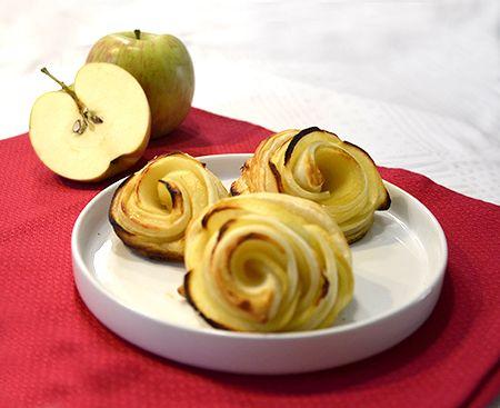 roselline di pasta sfoglia e mele