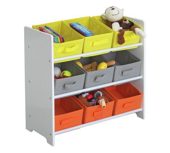 Buy Argos Home 3 Tier White Kids Basket Storage Unit Toy Boxes Storage Baskets Storage Kids Toy Boxes