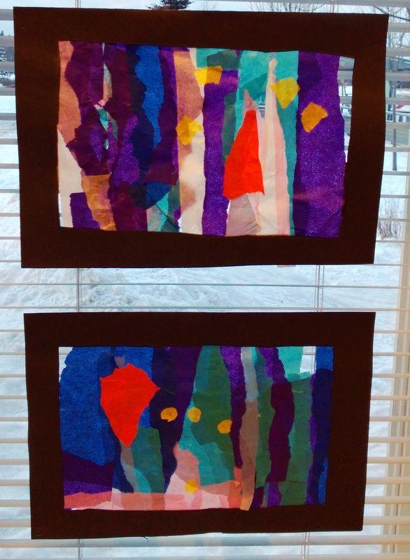 Silkkipaperisuikaleista väriä ikkunoihin