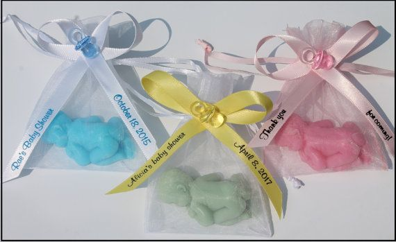 10 Newborn Baby Soap Party Favors