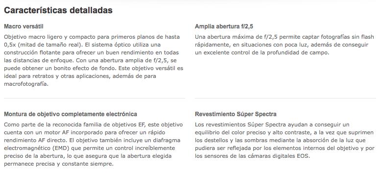 Canon EF 50mm f/2.5 Compact Macro  http://tiendacostarica.cr/camaras-digitales/