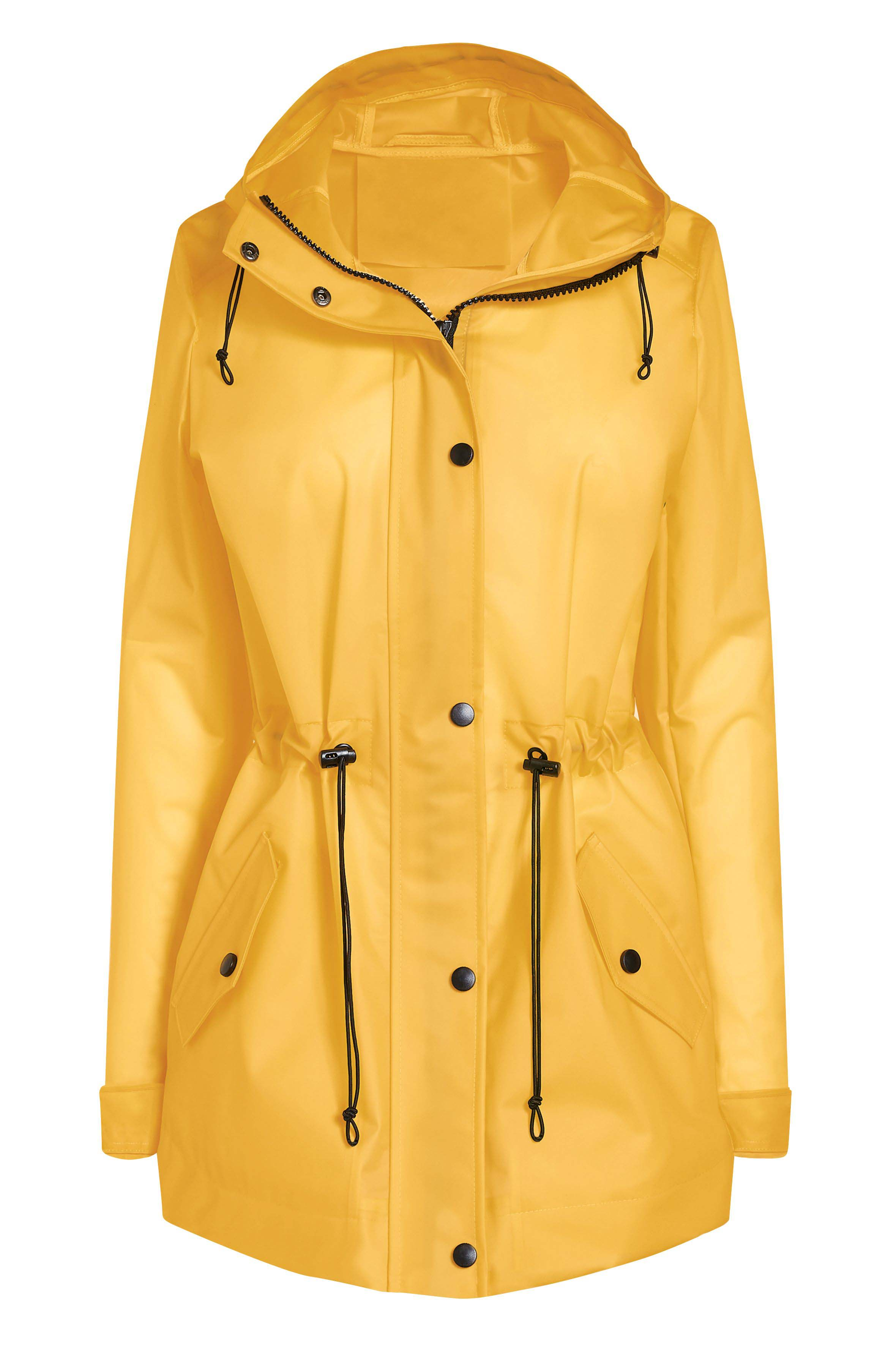 8a664728039 Womens Next Yellow Translucent Rubber Effect Jacket - Yellow ...