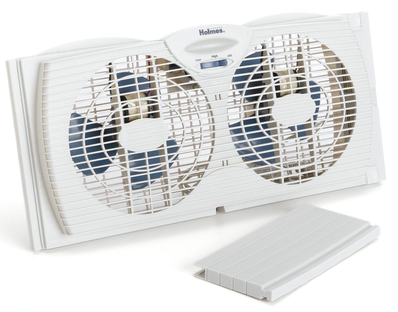 Amazon.com: Holmes Dual Blade Twin Window Fan, White: Home