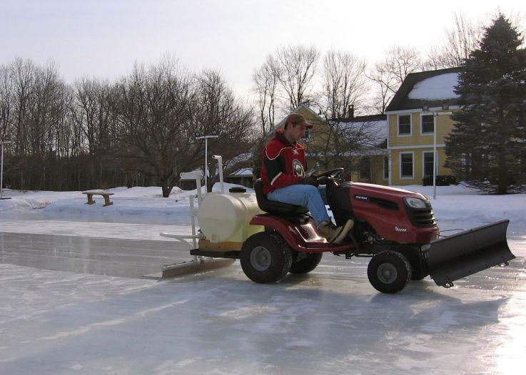 Tractor Zamboni Need This Ice Rink Backyard