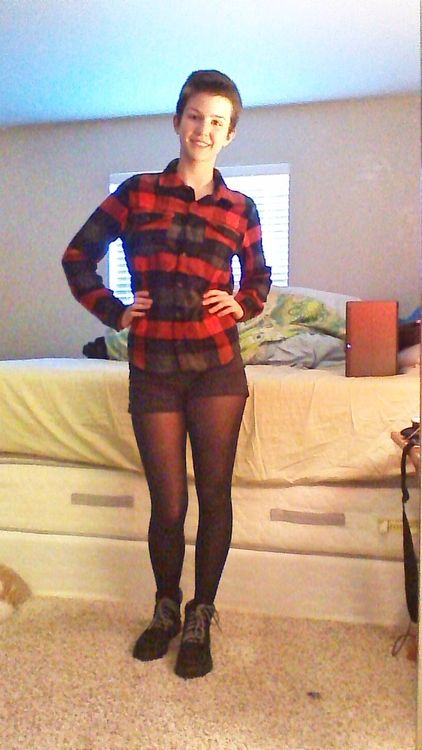 Daily Outfit! I am wearing my new flannel shirt from ...