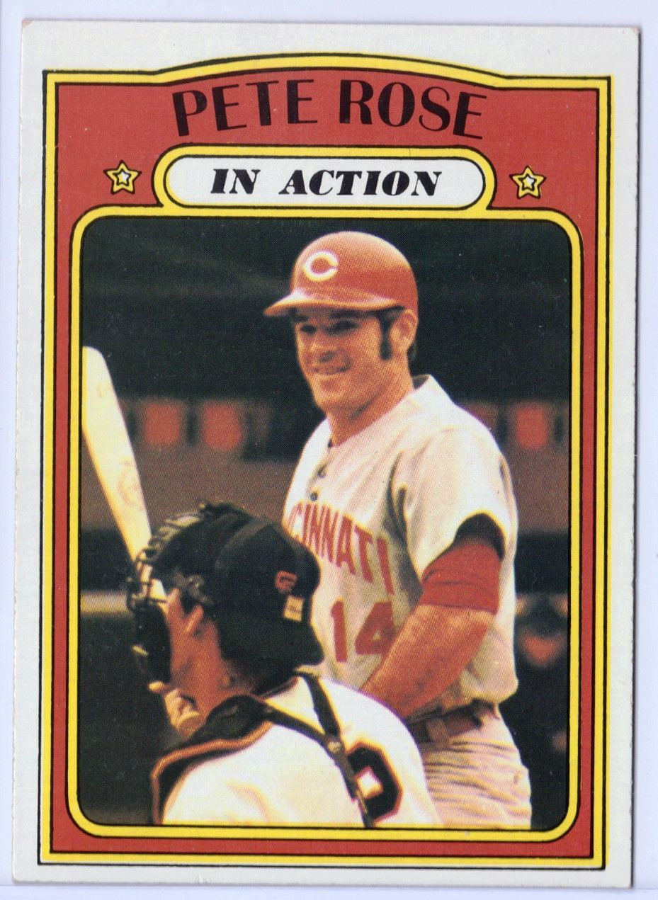 """1972 Topps Pete Rose In Action 560, Graded 8 NMMT """"WOW"""