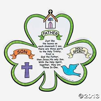 Christian St Patrick S Day Crafts Holy Trinity Color Your Own