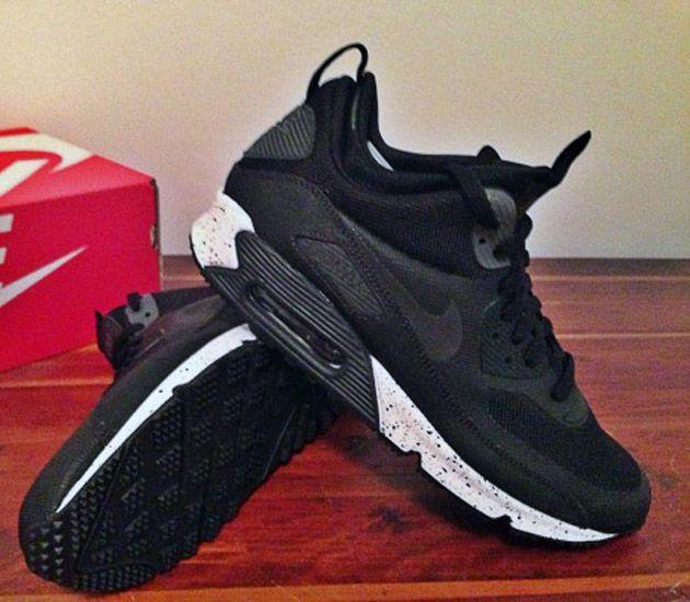 Nike Air Max 90 Mid Black Charcoal Jesien 2013 Nike Free Shoes Nike Air Max Nike Boots