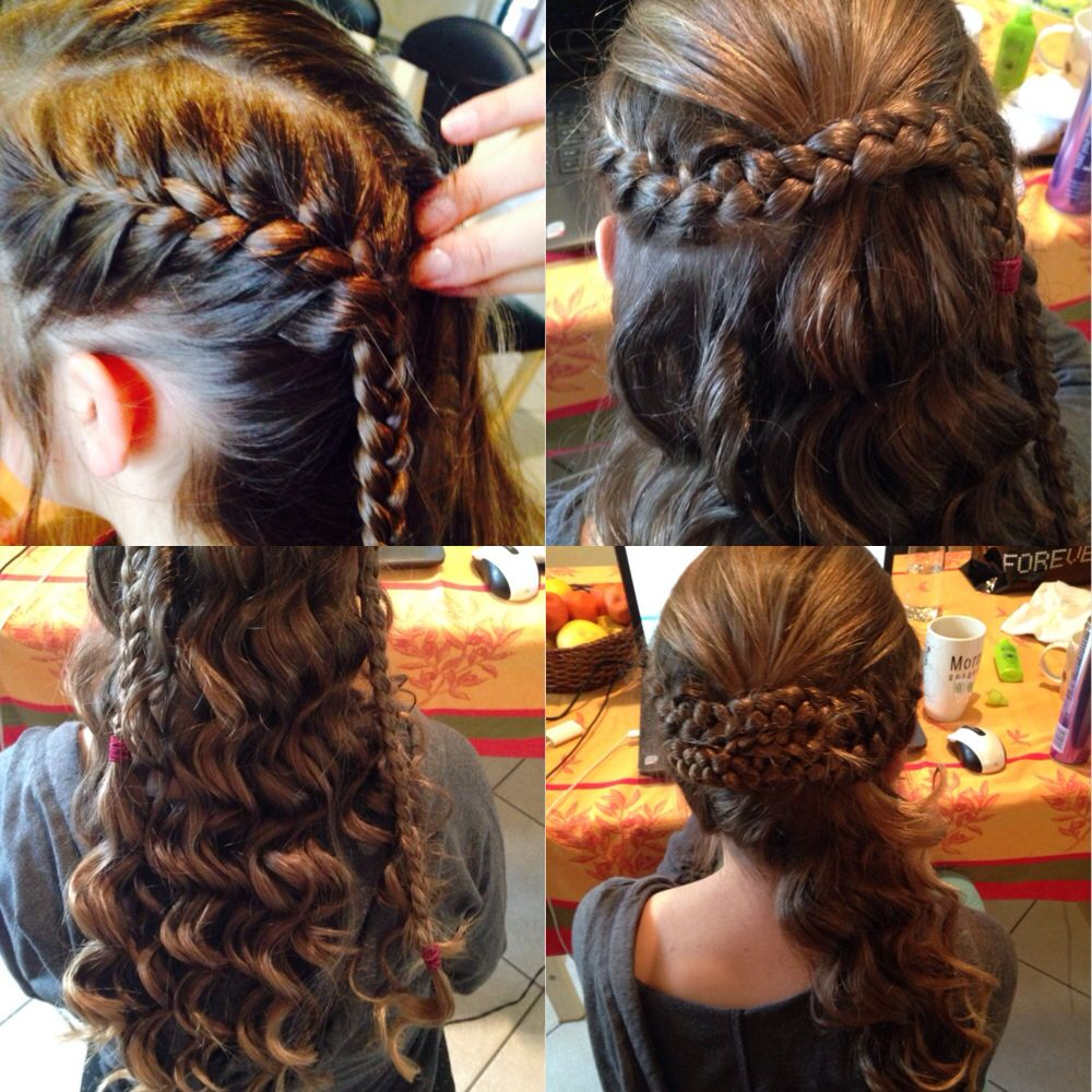 How To: Curly Side Plaited Pin Up  French Plait A Third Of The