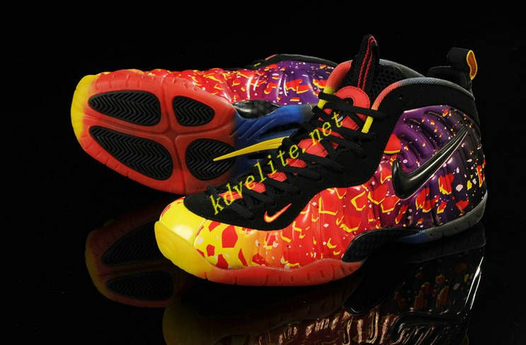 Nike Air Foamposite One Men Shoes in Red Yellow Purple Black, cheap Nike  Foamposites One, If you want to look Nike Air Foamposite One Men Shoes in  Red ...