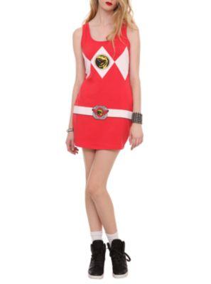 Mighty Morphin Power Rangers Red Ranger Costume Dress