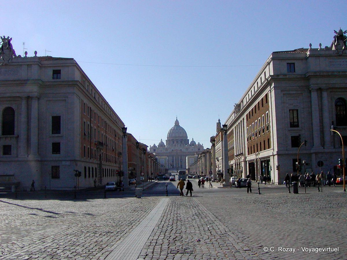 Avenue menant à St Pierre de Rome , Italia