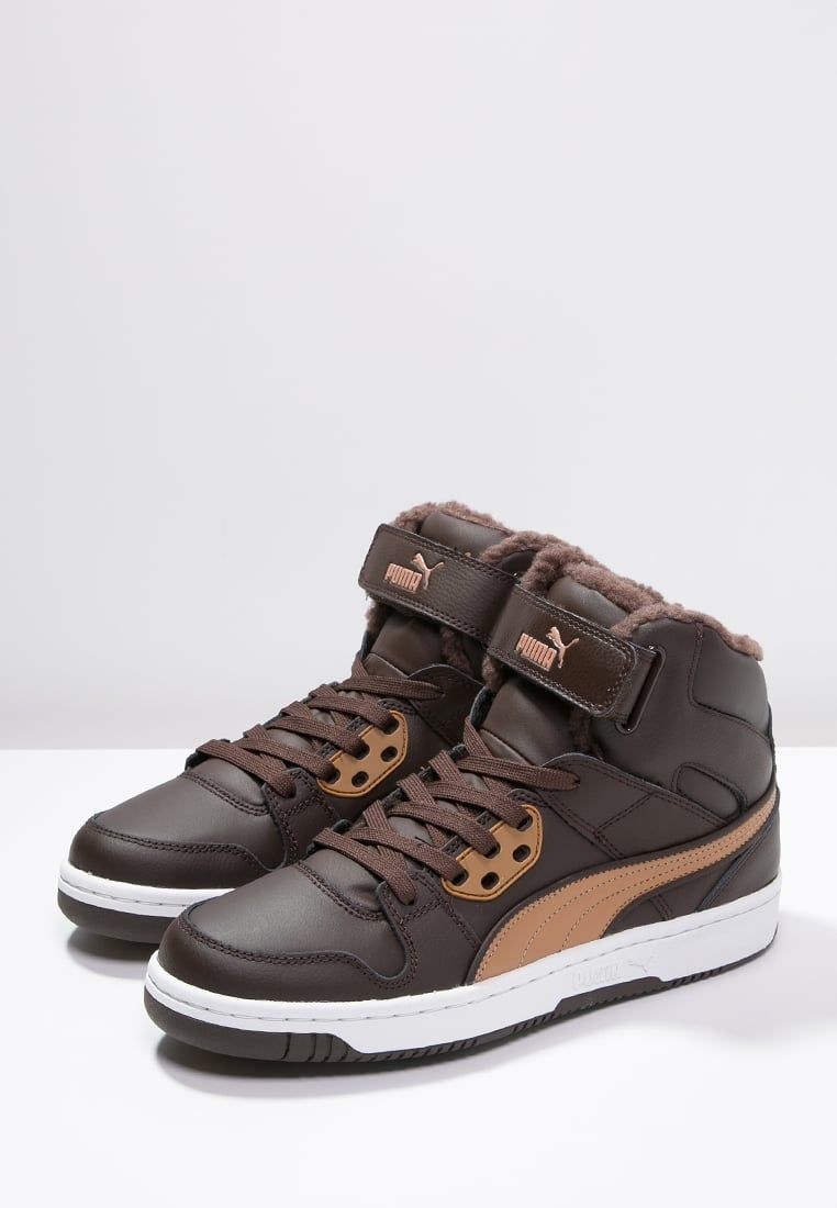 Puma REBOUND STREET - Sneakers hoog chocolate/chipmunk brown ...
